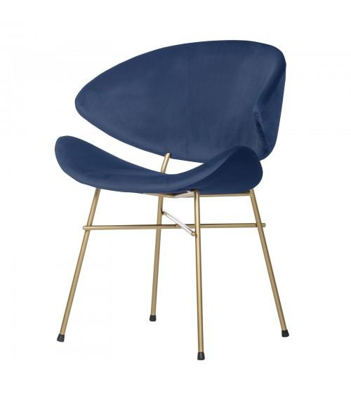 Krzesło Cheri Gold- velours - granatowy