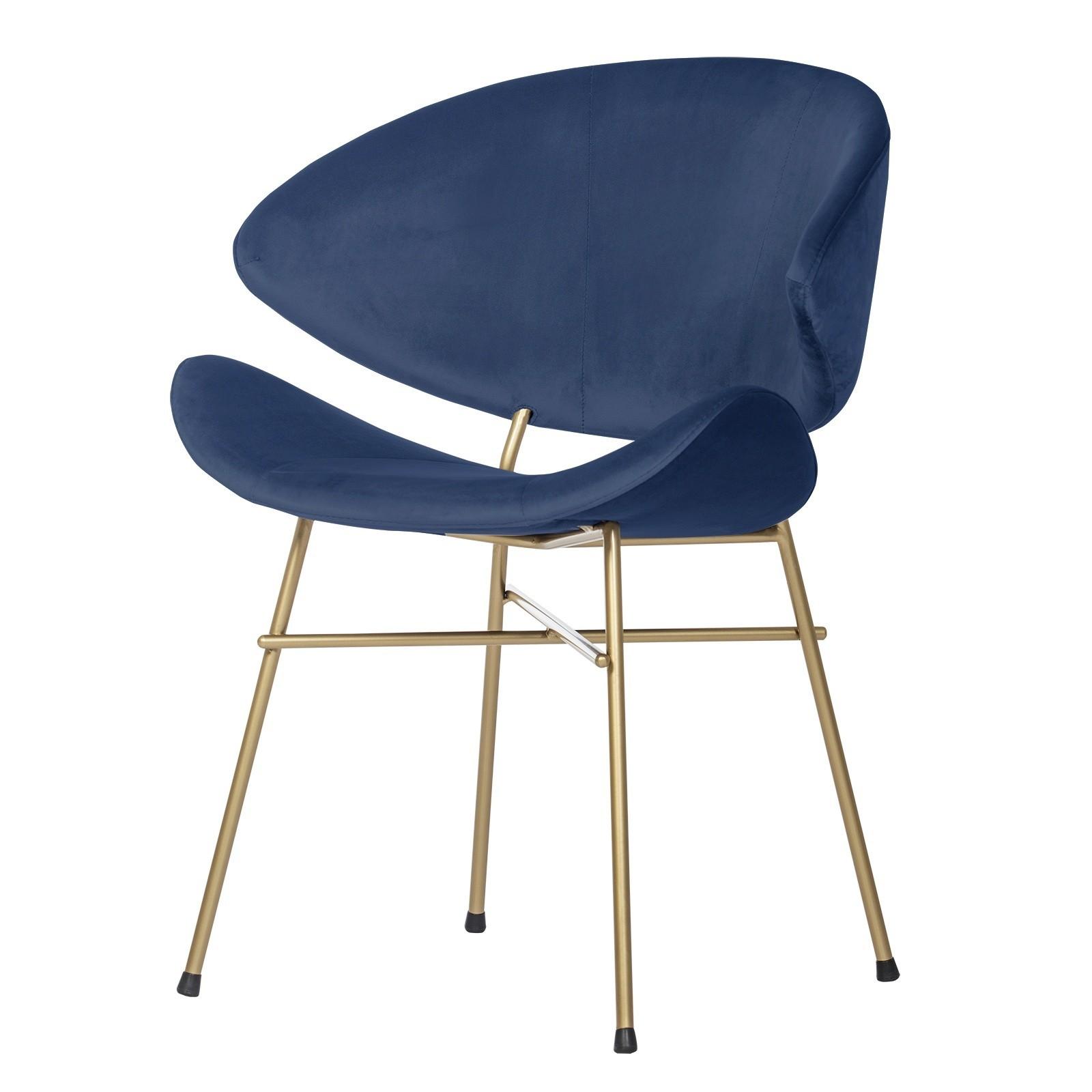 Cheri Gold - velours - chair - dark blue