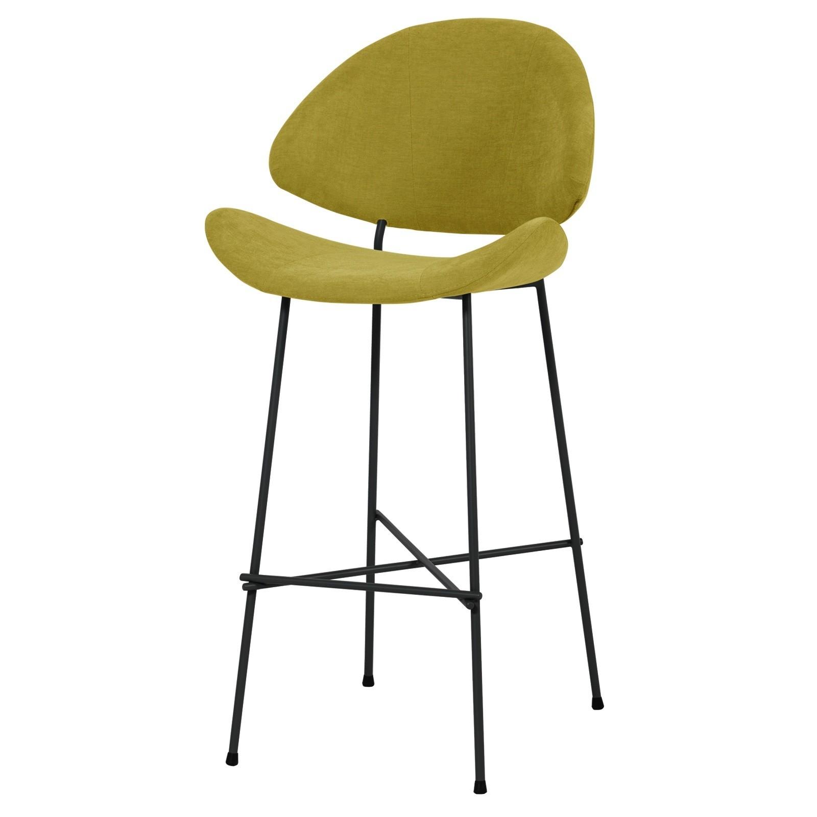 Krzesło barowe Cheri Bar - trend - musztardowy