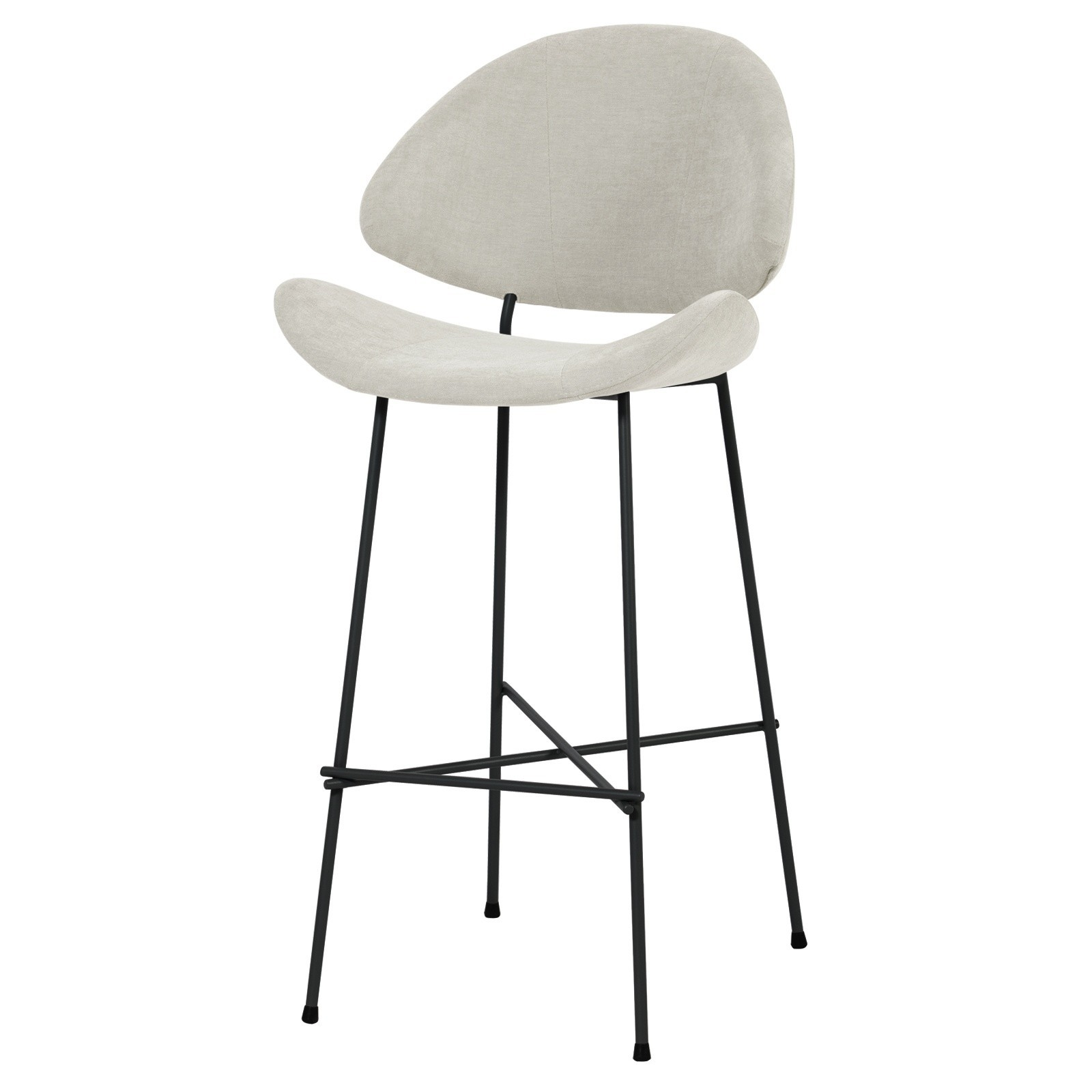 Krzesło barowe Cheri Bar - trend - ecru
