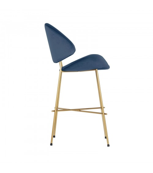 Bar Stool Cheri Bar Gold Low low stool chair - navy