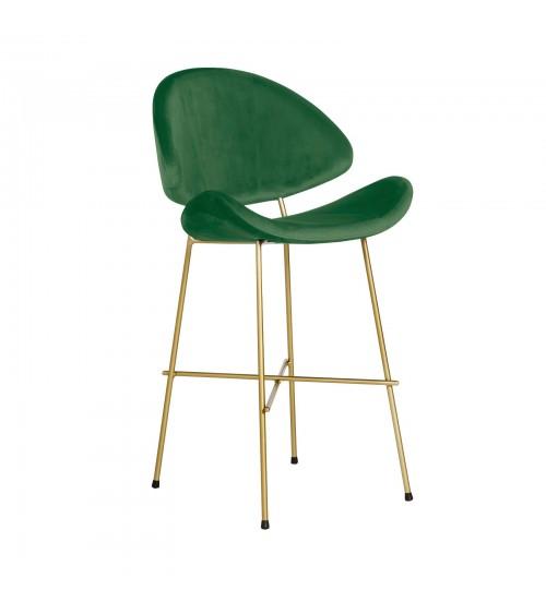 Krzesło barowe Cheri Bar Gold low  - velours  - miętowy