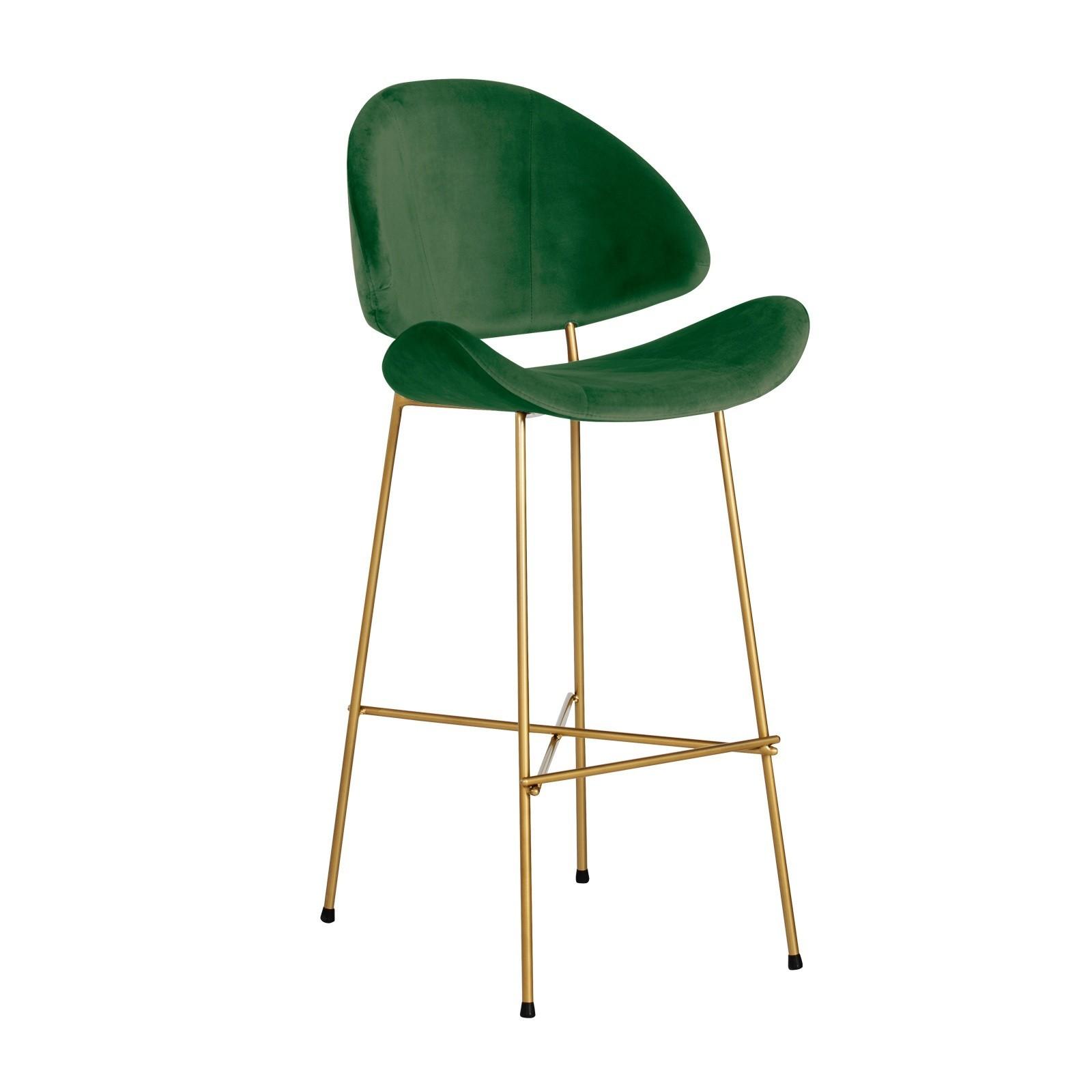 Cheri Bar Gold - velours - dark green
