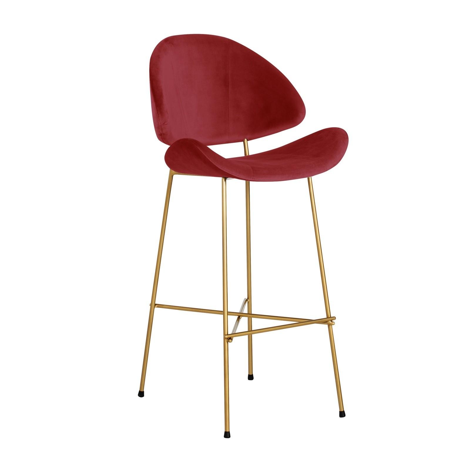 Cheri Bar Gold - velours - red